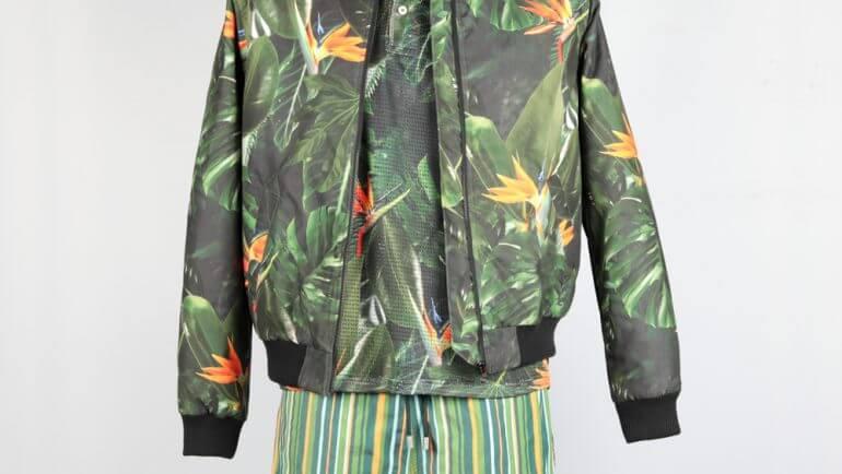 Bomber Jacket Rose/ Polo-Shirt 5